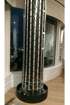 Wrapped Column Ready for Plants