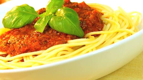 Bon appetite! Spaghetti Bolognese topped with fresh basil | GrowUp Vertical Farming