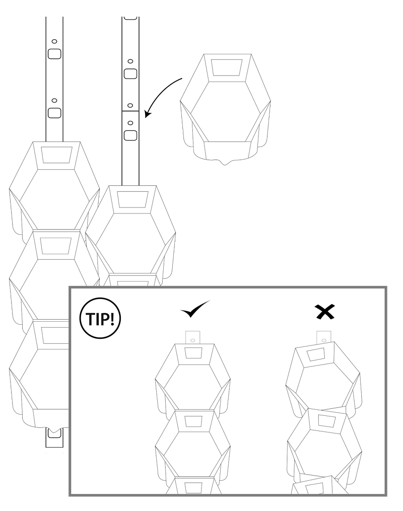 Diagram of the pot installation
