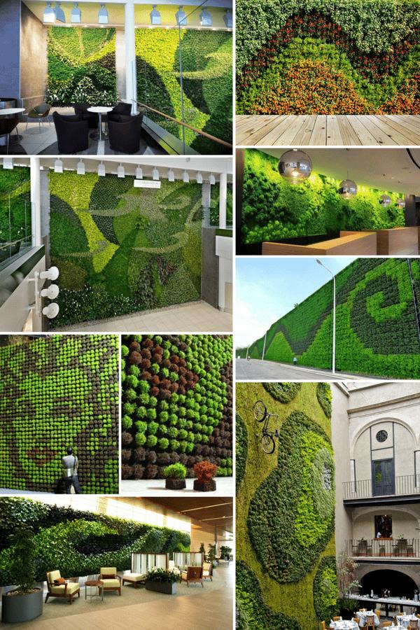 decorative green walls